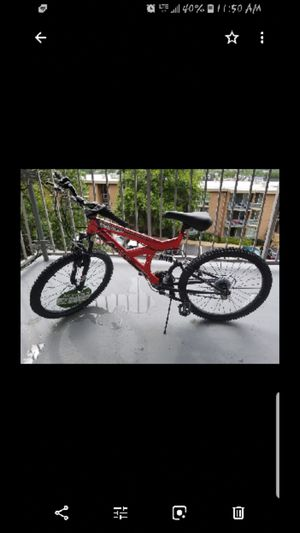 Black and red mountain bike with 24inch tires only rode once must go asap original price was 300.00 asking price 150.00 for Sale in Washington, DC
