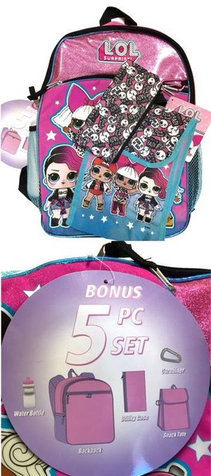 Brand NEW! L.O.L SURPRISE 5 Piece Backpack Set For School/Traveling/Everyday Use/Birthday Gifts $20 for Sale in Carson, CA