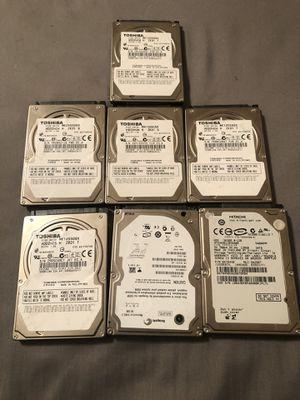 7 Hard drives 10 dollars Each hard drive for Sale in Dallas, TX