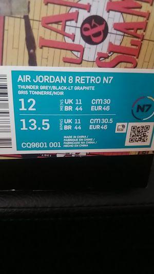 Nike jordan retro 8s. N7. D.s. sz12 for Sale in Tacoma, WA