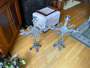 Iron candelabra antique for Sale in Chicago, IL