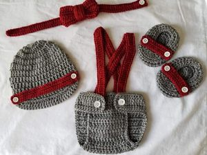 Crochet Baby Boy Diaper Cover Outfit for Sale in Plant City, FL