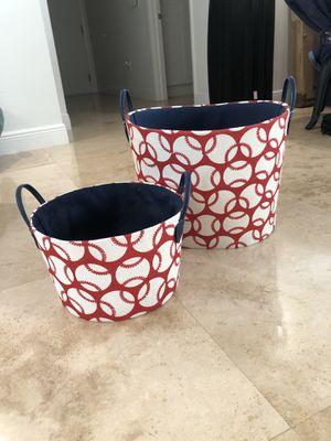 2 Baseball Baskets 🧺 for Sale in Bal Harbour, FL