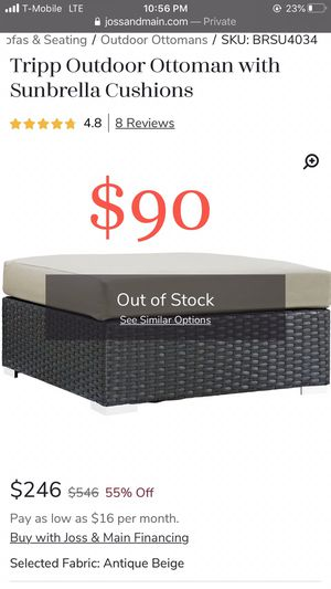 Big Ottoman NEW $90 for Sale in Bakersfield, CA