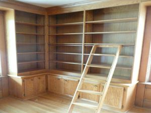 Solid Oak Bookshelves w/ cabinets (cash only) for Sale in St. Charles, IL