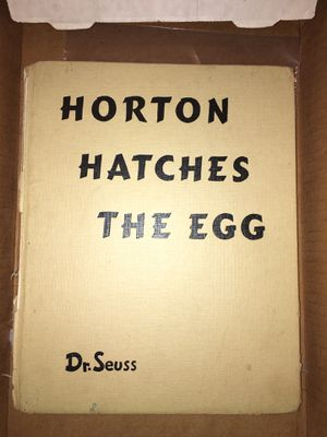 Vintage dr Seuss book Horton hatches the egg 1940 for Sale in Bethlehem, PA