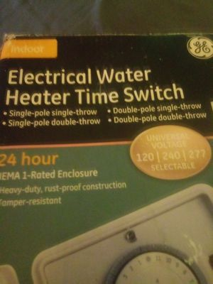 Ge Electricial Water Heater Time Switch for Sale in Lakeland, FL