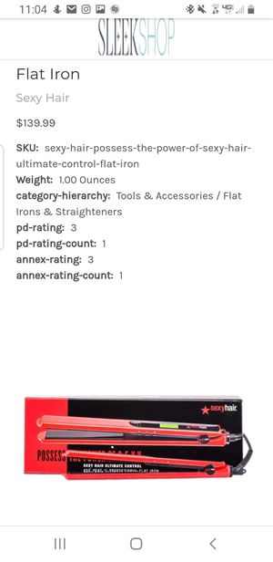 Big sexy hair 1 inch ceramic titanium flat iron brand new I'm box for Sale in Broadview Heights, OH