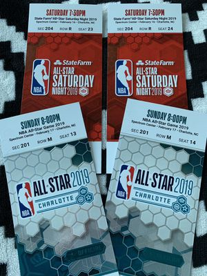 NBA All Star Weekend Game, Saturday Night, Celebrity Game for Sale in Charlotte, NC
