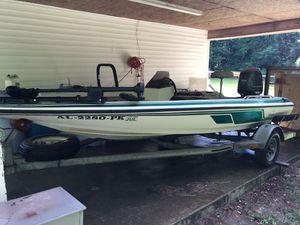 Boat. 1992 Skeeter 16', 2014 Yamaha 90 four stroke less than 20 hrs, hummingbird 565 Depth finder, Mini Kota 65 Trolling motor. Boat/motor/ trai for Sale in Leroy, AL