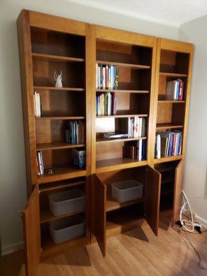 Custom built solid Cherry bookshelves for Sale in Lutz, FL