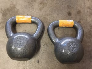 Brand new - pair of 25lb kettlebells for Sale in San Diego, CA