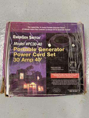 Generator Power Cord - 10/4 - 30 Amp 40 Feet for Sale in U SADDLE RIV, NJ