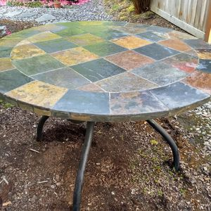 Indoor/ Outdoor Natural Stone Mosaic Round Table for Sale in Sammamish, WA