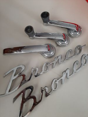 1967-72 FORD BRONCO MISC EMBLEMS ETC for Sale in Spout Spring, VA