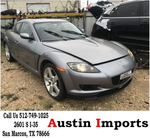 2005 Mazda RX8 Parts Parting Out head lights door bumper hood exhaust front rear left right bumper brakes hub radiator ac condenser fan suspension for Sale in San Marcos, TX
