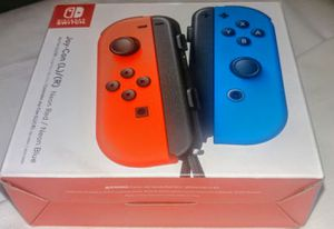 NINTENDO SWITCH NEON BLUE/RED JOY CONS WIRRLES CONTROLLERS BRAND NEW for Sale in Riverside, CA