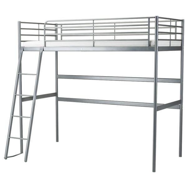 Twin Loft Bed Frame Ikea Svarta