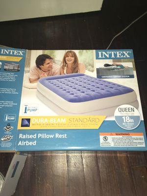 Intex Queen Air Mattress Bed for Sale in Dallas, TX