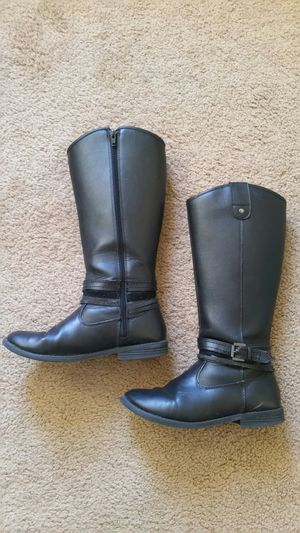 👢Girl's shoes black boots for Sale in Murrieta, CA