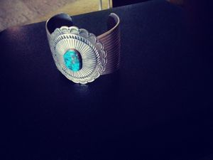 Native American Silver and Turquoise Cuff Bracelet for Sale in Las Vegas, NV