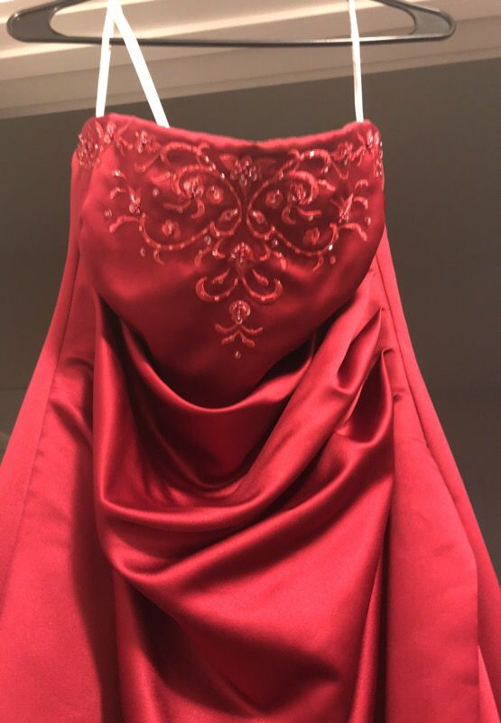 David's bridal wedding bridesmaid gown. Red. Size 10