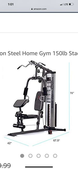 Marcy multifunction steel home gym 150lb stack mwm-988 for Sale in Hayward, CA