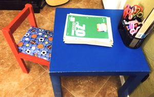 KIDS WOODEN TABLE!!!!💙❤️ for Sale in El Mirage, AZ