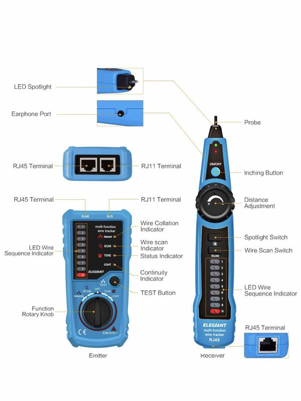 ELEGIANT WIRE TRACKER AND CABLE TESTER LINE FINDER