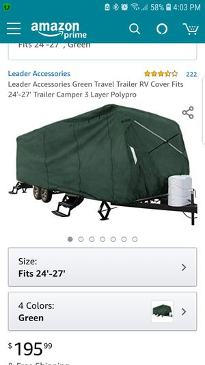 Camper cover for Sale in Enoree, SC