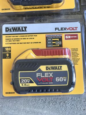 Today only dewalt flexvolt 9.0 Battery .....$100..... each one....brand new......pickup only...... first come first serve.... for Sale in Rialto, CA