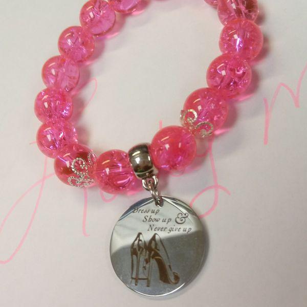 Pink charm bracelet #26