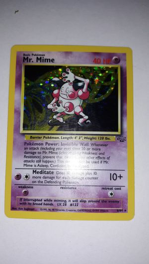 Mr. Mime Pokemon card 40 HP 6/64 for Sale in Lock Haven, PA
