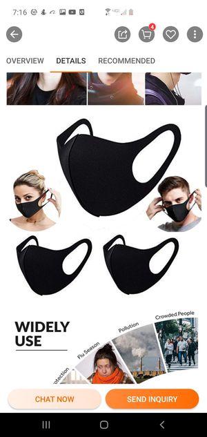 3x (WASHABLE & REUSABLE) FACE MASKS for Sale in Seattle, WA