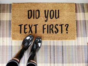 """Welcome Door mat """"Did you text first?"""" for Sale in DuPont, WA"""