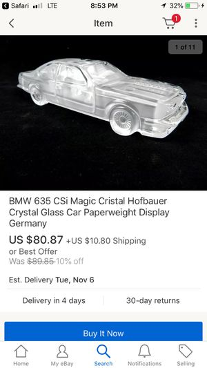 Glass model collectible bmw for Sale in Fresno, CA