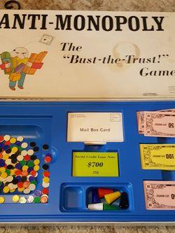 Anti Monopoly Game 1973 for Sale in Arlington,  WA