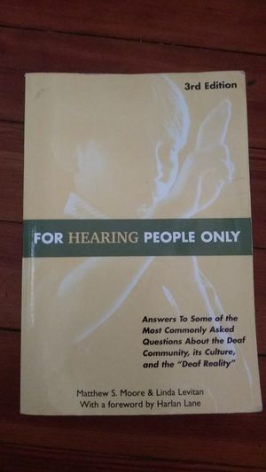 """""""For Hearing People Only"""" Textbook for Sale in Hanson, MA"""