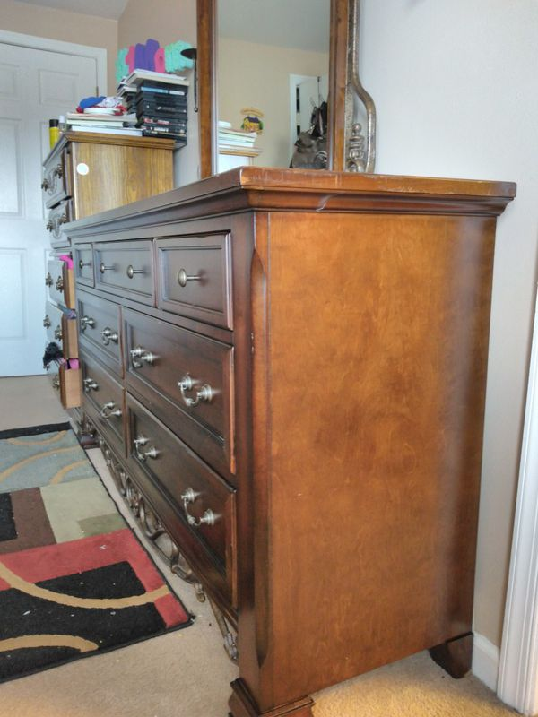 Dark Brown Long dresser