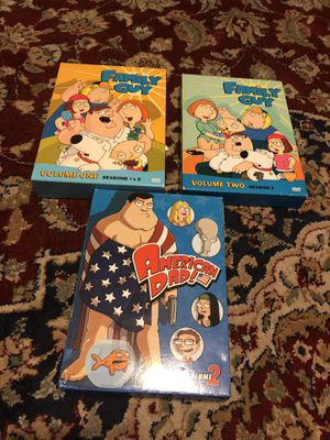 Family Guy Season 1&2, American Dad Vol 2 Box Sets for Sale in Conyers, GA