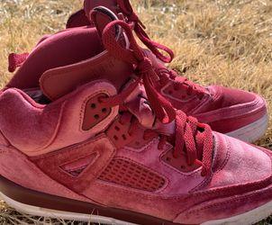 Air Jordan Spizike Velvet Noble Red/Black/White Sneakers GS 6.5Y for Sale in Laurel,  MD