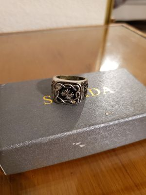 Nice Looking Men's Silver Plated Ring with a Cross on face of Ring size 9 for Sale in Las Vegas, NV