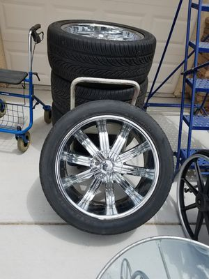22 inch Red Sport RSW 11 Chrome Rims offset for Sale in Las Vegas, NV