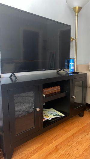 Black Brown TV Stand for Sale in Evanston, IL