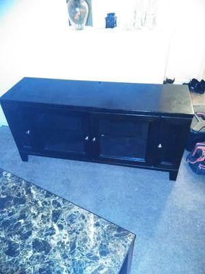 Dark oak TV cabinet. 60 inch capable for Sale in Redford Charter Township, MI