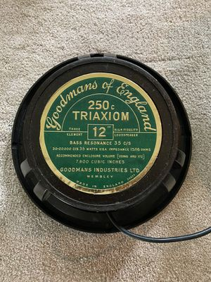 """GOODMANS OF ENGLAND 250c TRIAXIOM 12"""" Bass for Sale in Bridgeport, CT"""