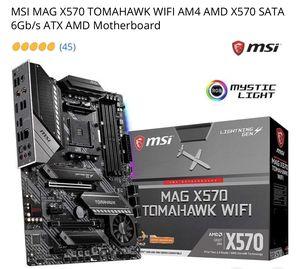 MSI MAG X570 TOMAHAWK WIFI AM4 AMD X570 SATA 6Gb/s ATX AMD Motherboard for Sale in Los Angeles, CA