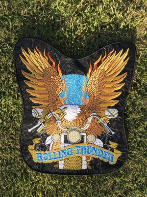 Rolling Thunder - Large Embroidered Motorcycle Bike Patches Set Custom Personalized Patch Applique for Clothing MC Vest Jackets Backpacks for Sale in Temple City, CA