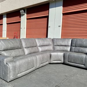 CLEARANCE | COSTCO 4-Piece Fabric Power Reclining Sectional, Gray | NEW | 🔥$50 DOWN for Sale in San Diego, CA