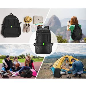 New $15 Ultra-Light (Weight 11oz) Hiking Backpack Waterproof Travel Rucksack, Double Zip Foldable (30L) for Sale in Whittier, CA